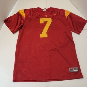 USC TROJANS Kids Red NUMBER 7 Jersey Extra Large i